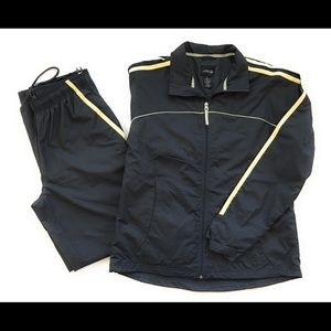 Bcg track suit, Sz med, Gray & yellow